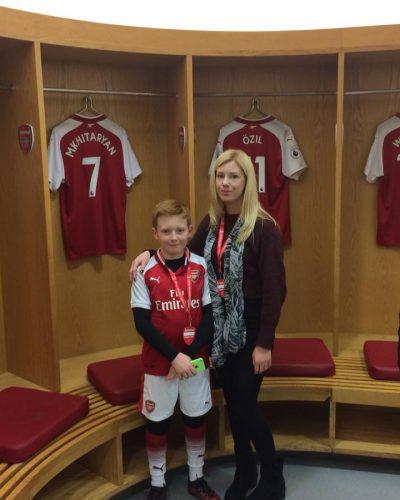 Brad and I Arsenal Stadium